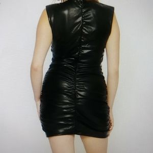 🆕faux Leather Dress